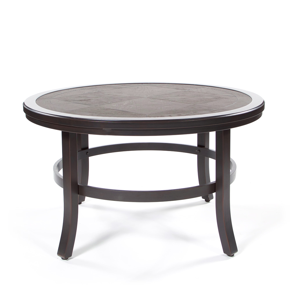"""Sunvilla 38"""" Round Faux Wood Coffee Table 