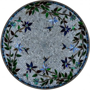 "Royal Hummingbird 42"" outdoor mosaic table top - Available in multiple sizes and shapes"