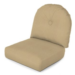 Deluxe wicker lounge chair cushion