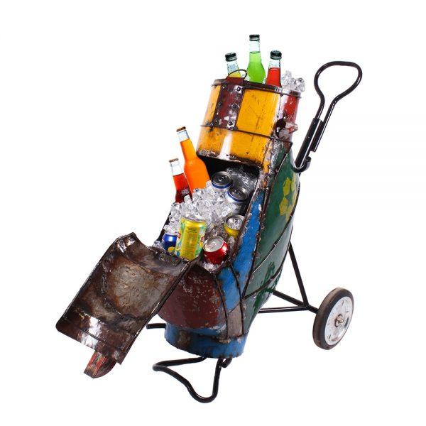 Metal golf bag cooler
